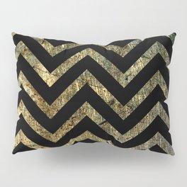 Brass Chevrons Pillow Sham
