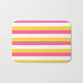 Simple striped design with beautiful bright summer colors Bath Mat