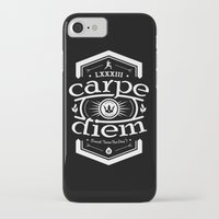 carpe diem iPhone & iPod Cases featuring Carpe Diem by 83 Drops