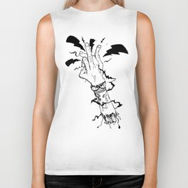 Electric Gang Signs! (B&W) Biker Tank