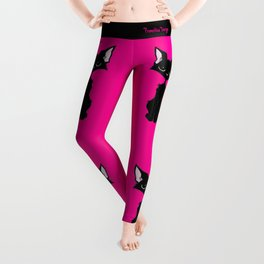 Black Cat - Hot Pink Leggings