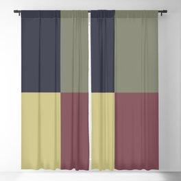 Yellow Green Blue Red Geometric Minimal Design Blackout Curtain