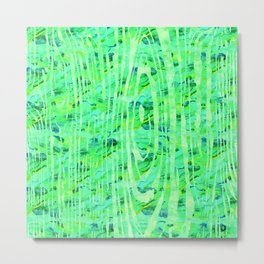 Green Wood Print Metal Print