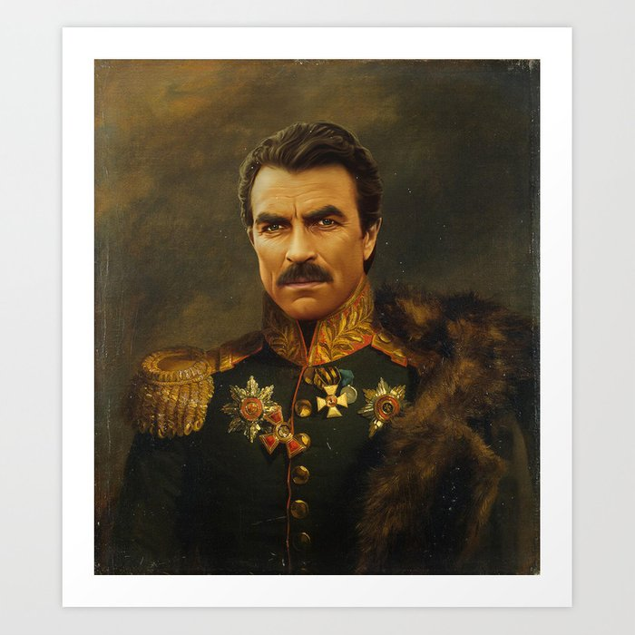 Tom Selleck - replaceface Art Print