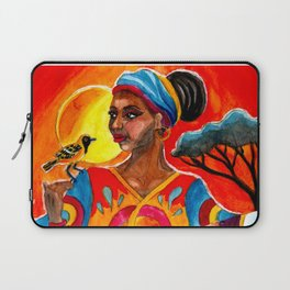 African and Indian Girls - Day VS Night Laptop Sleeve