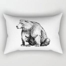 SITTING BEAR Rectangular Pillow