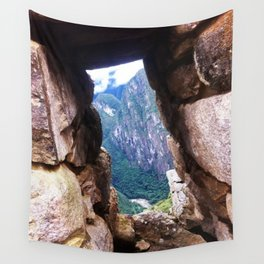 An Ancient Window From Machu Picchu Wall Tapestry