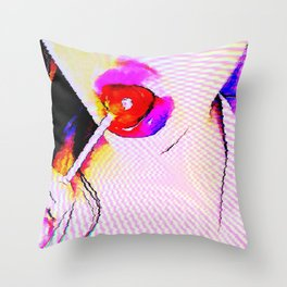 Cybernetic Sugar Throw Pillow