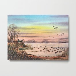 Duck Hunting With Granddad Metal Print