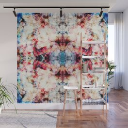 Colorful Abstract Batik Butterfly Rorschach Ink Blot Art Universe No4 Wall Mural