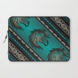 Horse Nation (Aqua) Laptop Sleeve