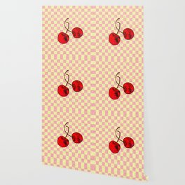 Two Red Cherries Wallpaper