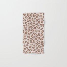 Abstract hipster brown white cheetah animal print Hand & Bath Towel
