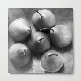 Pears in a Silver Bowl, No. 1 Metal Print