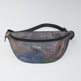 """Paul Gauguin - On the banks of the River at Martinique """"Au bord de la rivière"""" (1887) Fanny Pack"""
