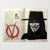 vendetta Canvas Prints featuring Vendetta by Coreypopp