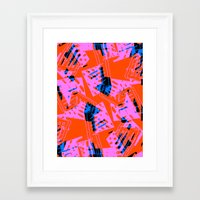 orange pattern Framed Art Prints featuring Orange Pattern by Sarah Bagshaw