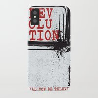 revolution iPhone & iPod Cases featuring revolution by J Maurice