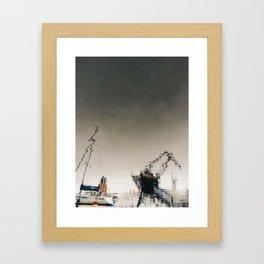 follow the water Framed Art Print