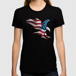 Patriotic Flying American Flag Eagle T-shirt