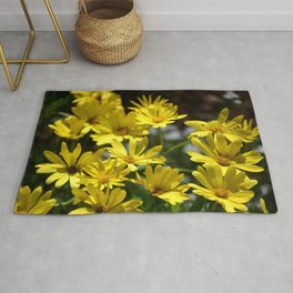 Delightful Little Yellow Daisies Rug