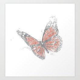 Butterfly (Biro) Art Print