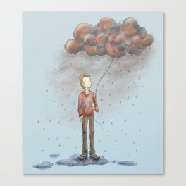 Take Out Cloud Canvas Print