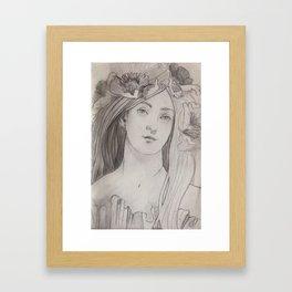 Shady lady 2 Framed Art Print