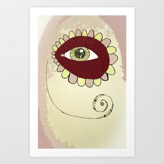See No Evil - Pink Art Print