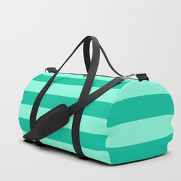 Teal and Aqua Mint Stripes Duffle Bag