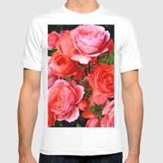 Red Roses MEDIUM White Mens Fitted Tee