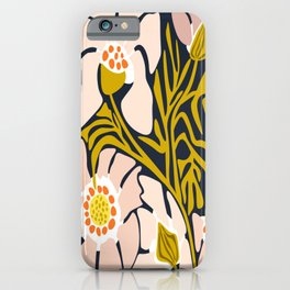 Backyard flower – modern floral illustration iPhone Case