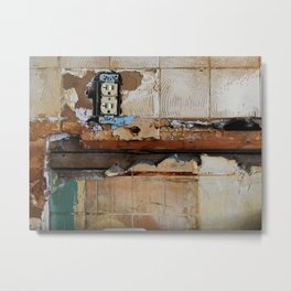 A Shocking Renovation Metal Print