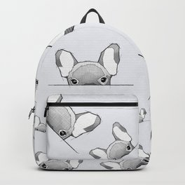 Hiding frenchy - grey Backpack