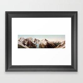 Vintage Mountain Peaks Framed Art Print