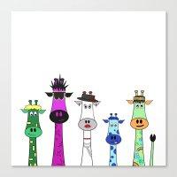 giraffes Canvas Prints featuring Giraffes by jozi.art
