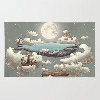 ocean Area & Throw Rugs featuring Ocean Meets Sky (original) by Terry Fan