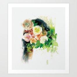 Roses-I Art Print