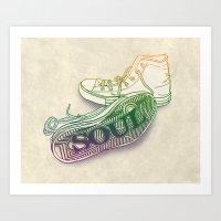 soul Art Prints featuring Soul by Dianne Delahunty