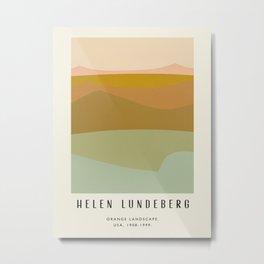 Poster-Helen Lundeberg-Orange landscape. Metal Print