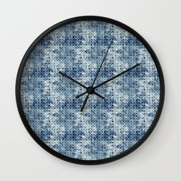 Grungy Teal Circles Wall Clock