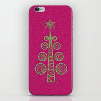 christmas tree iPhone & iPod Skins featuring Christmas Tree by Mr and Mrs Quirynen