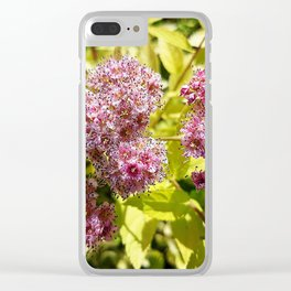 Lilac flowers Clear iPhone Case