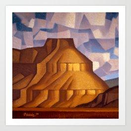 Pinnacle Bench Mesa Art Print