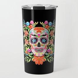 Best sugar skull day of dead dia de los muertos Travel Mug
