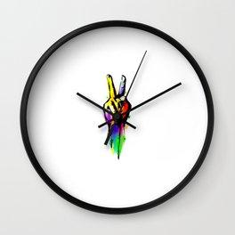 Art Peace Sign Wall Clock