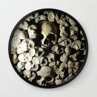 skulls Wall Clocks featuring skulls by SINPE