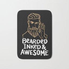 Bearded Inked & Awesome | Beard Tattoo Bath Mat