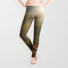 wooden house in the forest Leggings