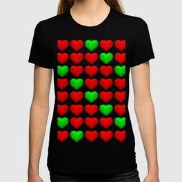 Lowpoly Christmas Hearts T-shirt